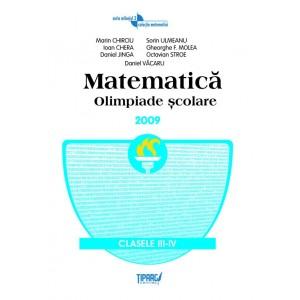 Matematica. Olimpiade scolare, clasele a III-a si a IV-a