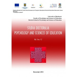 Studia Doctoralia. Psychology and Sciences of Education, Vol. I, nr. 1-2