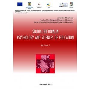 Studia Doctoralia. Psychology and Sciences of Education, Vol. II, nr. 3